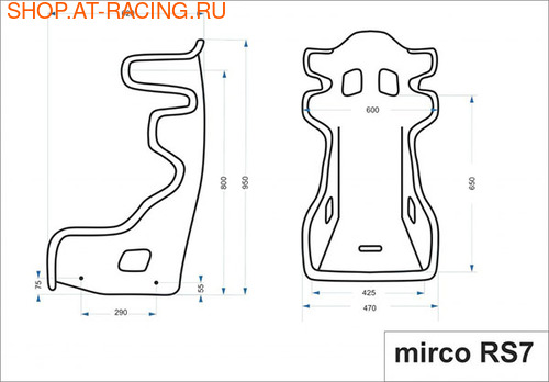 Спортивное сиденье (ковш) Mirco RS 7 (фото, вид 3)