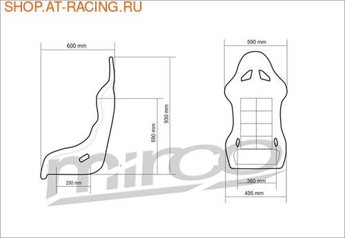 Спортивное сиденье (ковш) Mirco GT (фото, вид 1)