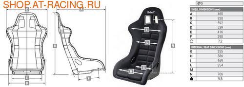 Спортивное сиденье (ковш) Sabelt GT3 (фото, вид 2)