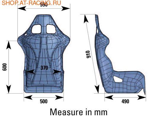 Спортивное сиденье (ковш) OMP ARS-R (фото, вид 1)