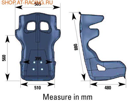 Спортивное сиденье (ковш) OMP RS-PT2 (фото, вид 2)